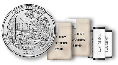 2017 P+D Ozark National Scenic River ways Nt. Park (MO) 2 Quarter Set **IN HAND*