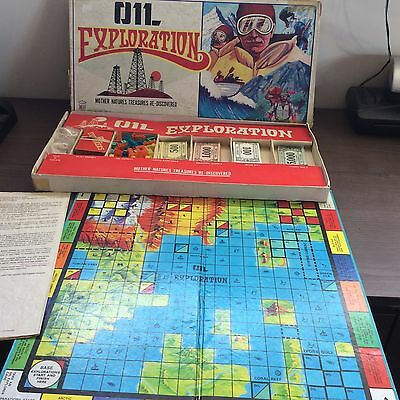 RARE Vintage 1983 OIL EXPLORATION Board Game - Mabuhay Educational Center