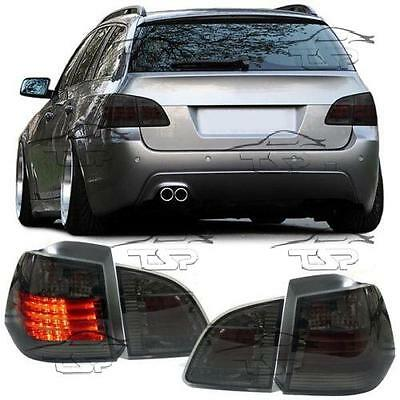 Rear Led Bar Tail Lights Smoke For Bmw E61 03-07 Touring Series 5 Lamp New