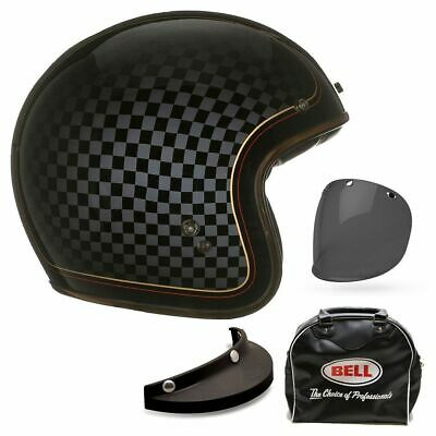 Bell Custom 500 Open Face Motorcycle Helmet Rsd Check It + Free Carry Bag