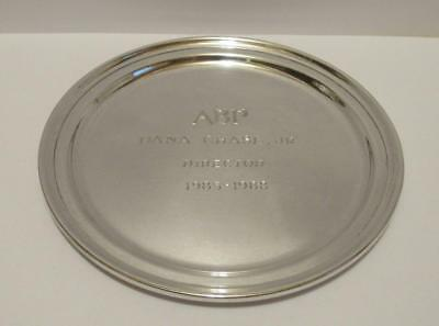 """TIFFANY & CO. SOLID STERLING SILVER TRAY 6"""" SERVICE AWARD 147.2 g. Scrap or Not!"""