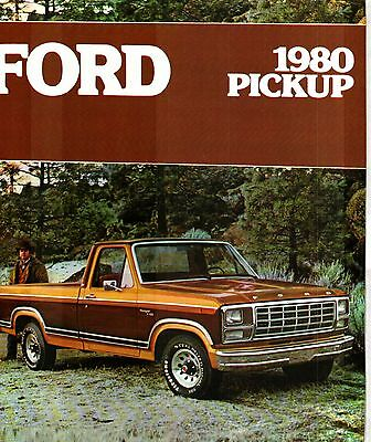 1980 Ford Pickup Truck Deluxe Color Sales Catalog