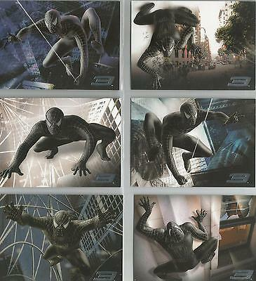 "Spider-man 3 - ""Spider-Man Black"" Set of 6 Chase Cards #B1-6"