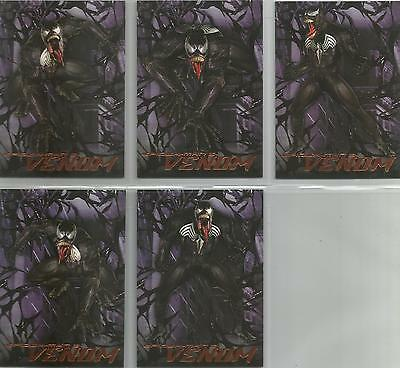 "Spider-man 3 - ""Venom"" Set of 5 Chase Cards #V1-5"