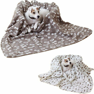 Large Super Soft Pet Dog Puppy Fleece Bed Bedding Travel Crate Mat Throw Blanket