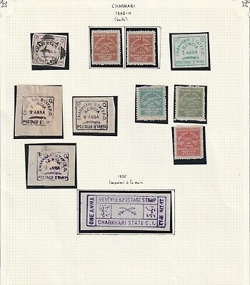India Charkhari State very nice collection on 3 album pages