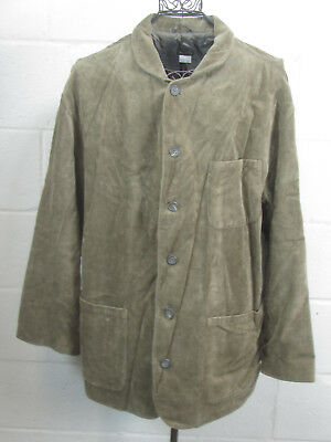 Industria Men's Brown Button Down Shirt Jacket Overshirt Made in Italy XL