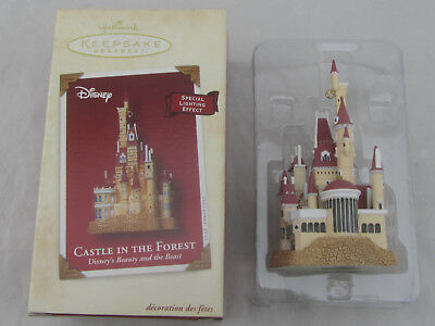 NIB Hallmark Christmas Ornament Castle in the Forest Beauty & the Beast QXD4953