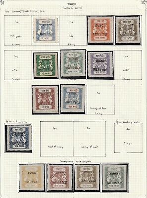 India Bundi State Officials very nice collection on 3 album pages