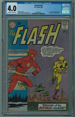 Flash #139 Cgc 4.0 1St Reverse-Flash Off-White To White Pgs 1963