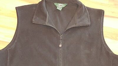 Mens Woolrich Black Fleece Vest Jacket Size Large