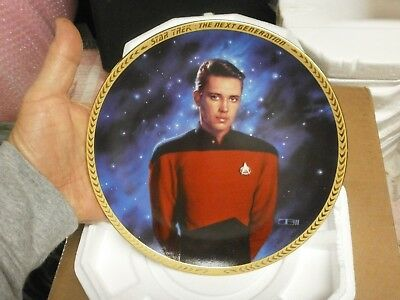 Ensign Wesley Crusher Star Trek  Collector Plate 1993 The Hamilton Collection