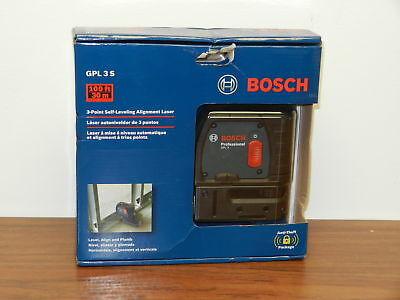 BOSCH GPL 3 S 100FT 3-Point Self-Leveling Alignment Laser Brand New - Sealed