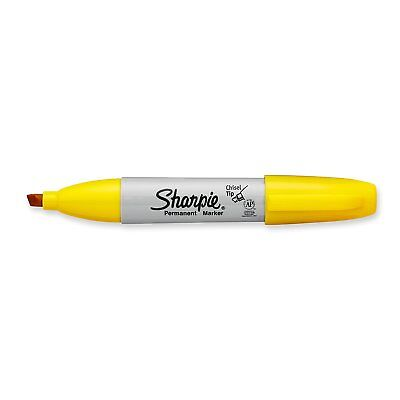 Sharpie Permanent Marker, Chisel Tip, Yellow, Each