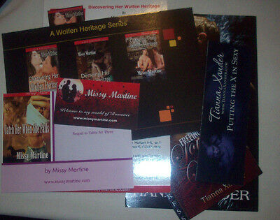 EC 7 item lot Hot Author Swag Missy Martine & Tianna Xander NR free shipping