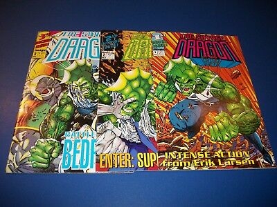 Savage Dragon #1 Signed by Erik Larsen #2,3 Fine to VF Lot Run of 3 Image Spawn!