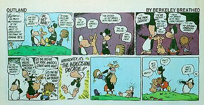 Outland by Berkeley Breathed - lot of 13 full color Sunday comic pages from 1990