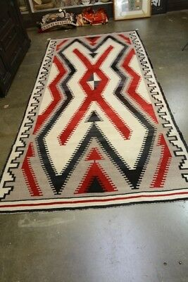 "Fine Antique Navajo Indian Ganado Rug c. 1920  127"" x 63"""