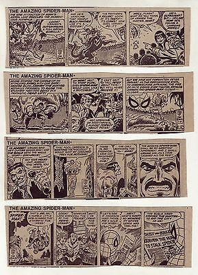 Amazing Spider-Man by Stan Lee & John Romita - 11 daily comic strips - Nov. 1977