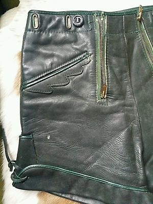 Vintage 60's Leather Laderhosens,German Fetish Pans People Hotpants Shorts.XS vg