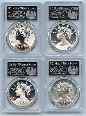 2017 Silver American Liberty Medal 4 Coin Set PCGS 70 FS Thomas Cleveland Black