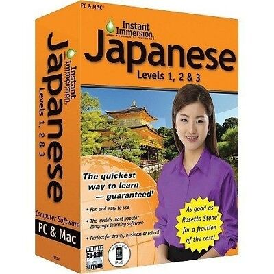 Learn How To Speak Japanese With Instant Immersion Levels 1-3 Retail Box