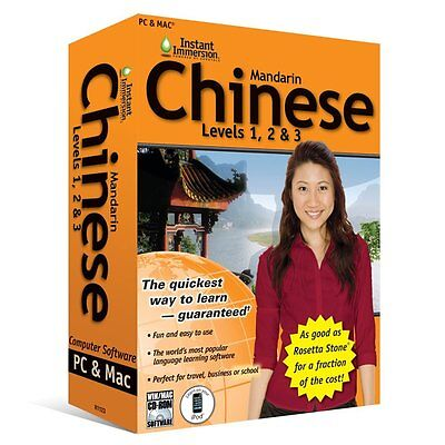 Learn How To Speak Chinese Mandarin With Instant Immersion Levels 1-3 Retail Box