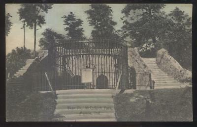 Postcard MUNCIE Indiana/IN  McCullouch Park Live Bear Exhibit Pit 1907