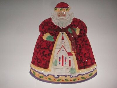 Jim Shore Christmas Large Santa Claus Serving Patter NIB