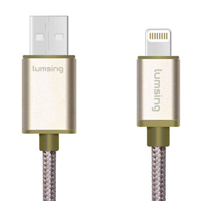 Lumsing Nylon Braided Lightning to USB Sync Cable 3.3 feet for iPhone iPod iPad