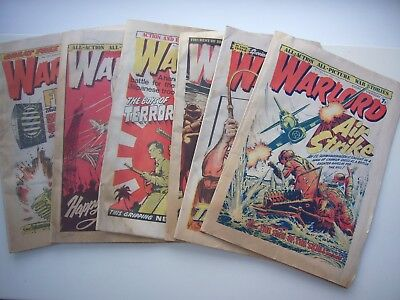 6 x WARLORD COMICS FROM 1977.