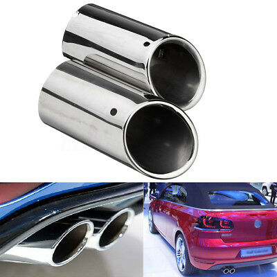 Stainless Steel Exhaust Muffler Tail Tip Pipe For Audi/VW Scirocco/SKODA/Octavia