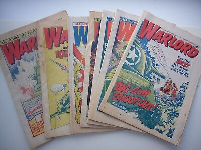 7 x WARLORD COMICS FROM 1976.