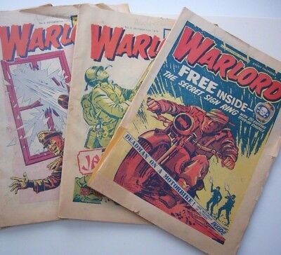 3 x WARLORD COMICS -   FROM 1974.