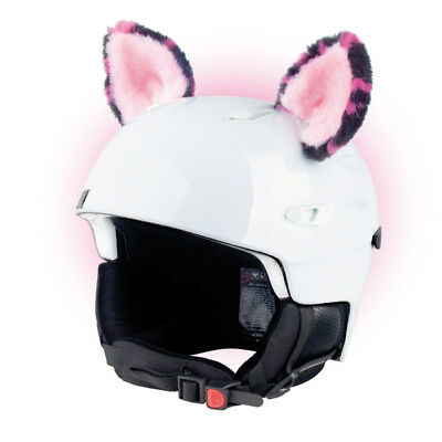 Stick-on ears for skiing helmet - Pink Cat - ski bike Decoration Cover kid ear