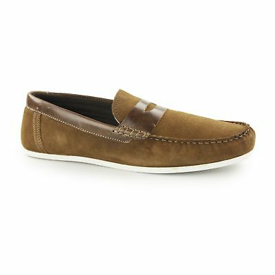 7450573de951 Red Tape WARDON Mens Soft Suede Leather Slip On Comfy Casual Penny Loafers  Tan