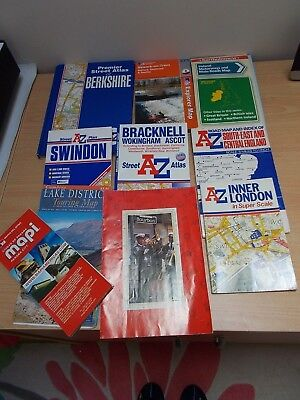 Job Lot MAPS Bartholomew,  A-Z  Road Maps, Holiday, Tourist, Street Guides