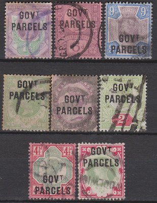 GB 1887/1900 Official Government Parcels  2 Used sets to 1/- Cat £1128