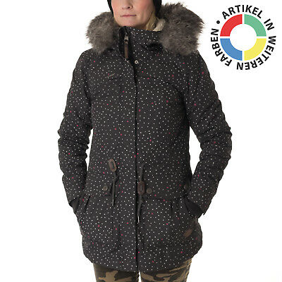 RAGWEAR Damen Winter Jacke Kurz Mantel Parka Teddy Fleece warm ...