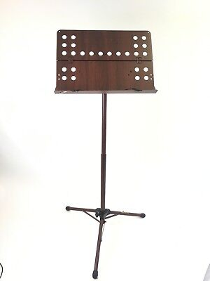 Special Edition Brown Hercules BS311B Orchestra Ez Clutch Stand, Perforated Desk
