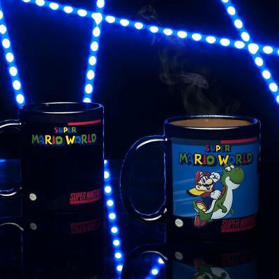 Official Licensed Nintendo SNES Super Mario World Heat Changing Coffee Mug