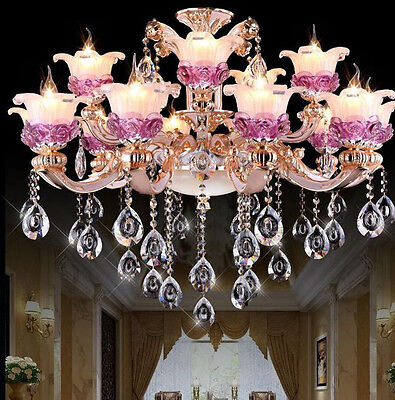 European style Zinc Alloy K9 crystal chandelier living room lamp Lighting #8032