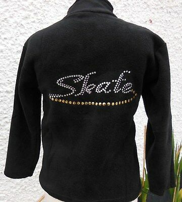 New with Glitzy Ice Skating Fleece Dress Jacket with Crystal Motif Age 8-9
