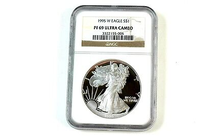 1995-W Proof Silver American Eagle PF-69 NGC UCAM THE RARE ONE!