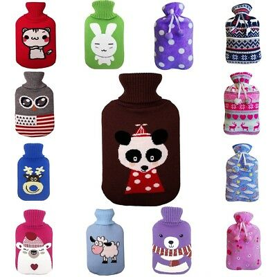 2L Large Knitted Hot Water Bag Cover Case Heat Winter Warm Keeping Coldproof