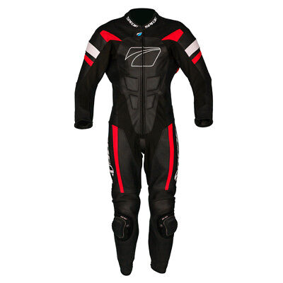 Spada Curve Evo 1 One Piece Leather Motorcycle Racing Suit - Black/ Fire Red