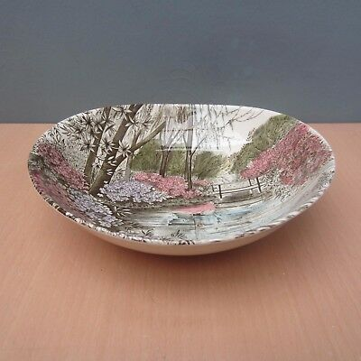 "Vintage Johnson Bros ""english Gardens"" Serving / Fruit Bowl"