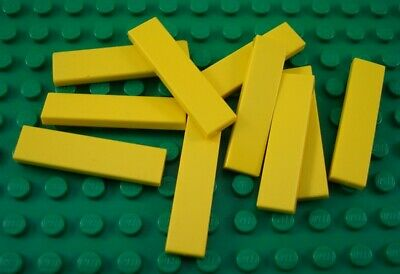 LEGO Lot of 10 Yellow 1x4 Smooth Flat Tiles Classic Creator Pieces