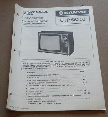 Sanyo  Colour Television Service Manual CTP 56230J 1979 (TV )