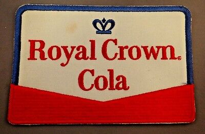 mid-1960s Royal Crown Cola red white & blue uniform back patch RC